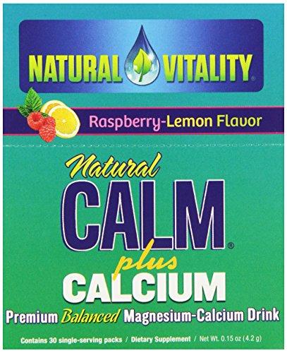 Природные Vitality, природный Calm плюс Кальций Напиток порошок, малиново-Лимон, 30 карат