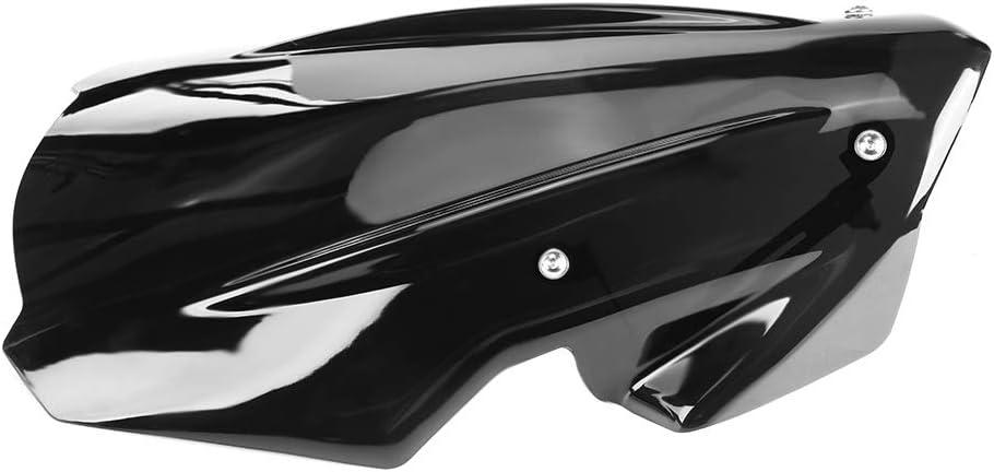 Qii lu Parabrisas de la motocicleta Parabrisas con soporte de montaje Deflector de viento Carenado para Z900 2017-2019 con tornillos y accesorios Negro