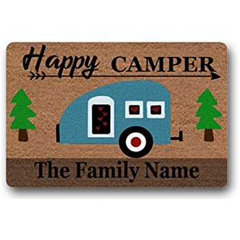 Amazon Com Artsbaba Doormat Rv Happy Camper Door Mat