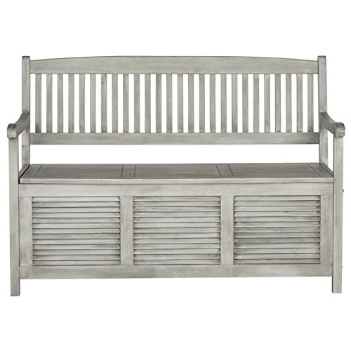 Safavieh Outdoor Collection Brisbane Grey Storage Bench (Cushions For Outdoor Furniture Brisbane)