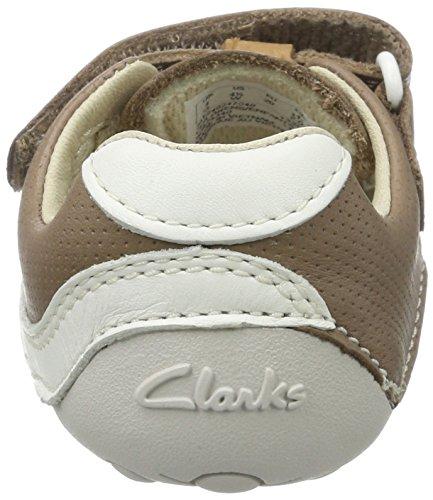 Clarks Tiny Boy, Mocasines para Bebés Beige (Mushroom Leather)