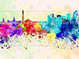 PAINTING CITYSCAPE PAINT SPLASH SKYLINE BUENOS AIRES ART PRINT MP5257B
