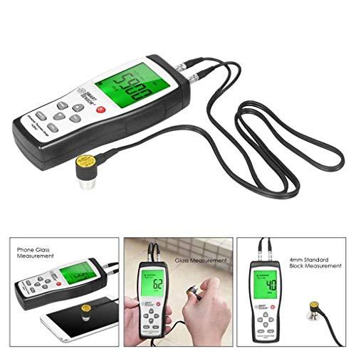 BONRICH Digital Ultrasonic Thickness Gauge 1.2-225mm 1000-9999m/s Sound Velocity Meter M (Thickness Meters Ultrasonic)