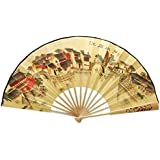 Oriental Style Folding Fan Hand Fan Handfan Handheld Fan Perfect Gift, J
