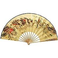 Oriental Style Folding Fan Hand Fan Handfan Handheld Fan Perfect Gift, J