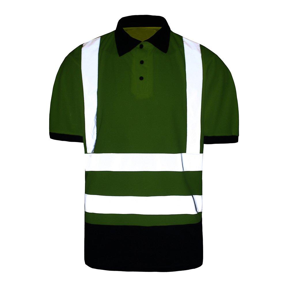 Hi Viz Vis Polo T-Shirt cinta reflectante de alta visibilidad ...