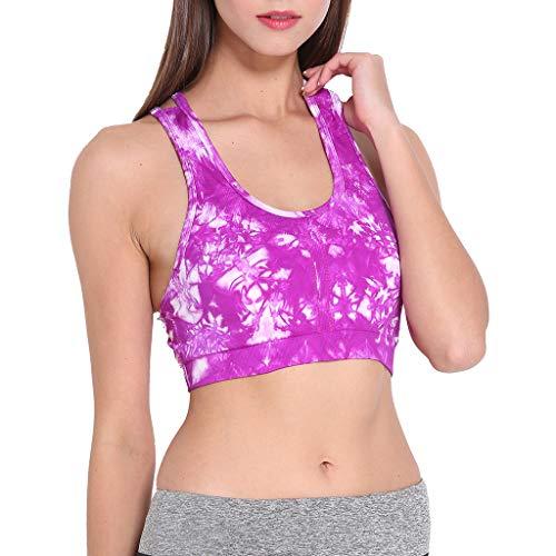 Nylon Vest Tactical 5.11 (Toimothcn Womens Tie-Dye Sports Yoga Tank Tops Seamless Padded Gym Fitness Workout Bra Vest Racerback(Purple,L))