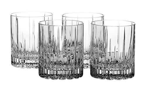 Mikasa Crystal Barware (Mikasa Arctic Lights Crystal Double Old Fashioned Glass, 11.5-Ounce, Set of 4)