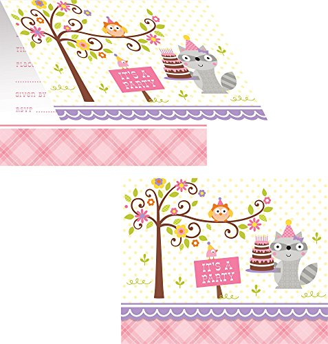 Happi Woodland Girl Invitations
