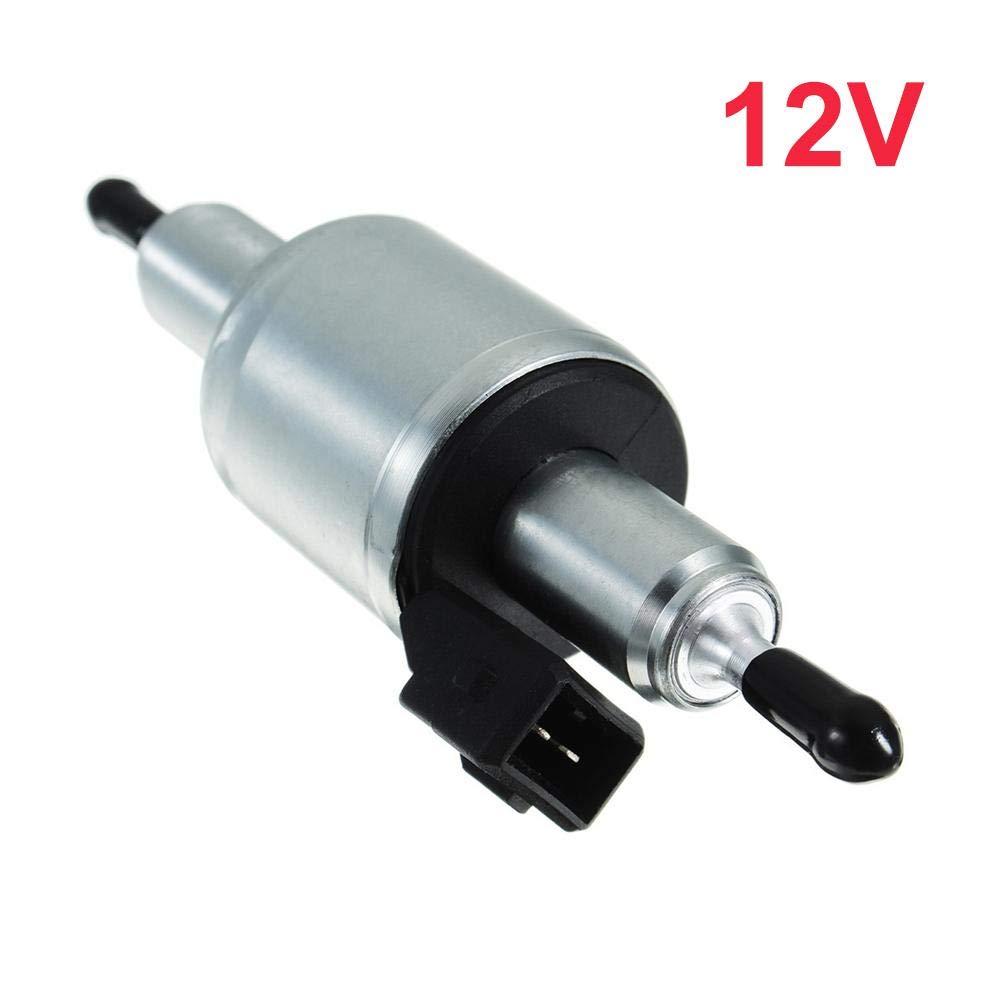 Universal 12V//24V Electric Fuel Pump Gas Diesel Inline Electric Fuel Pump Kit Air Parking Heater Fuel Pump 2000W 5000W for Webasto Ws