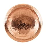Hammered Copper Bowl with Rim, My Pet Supplies