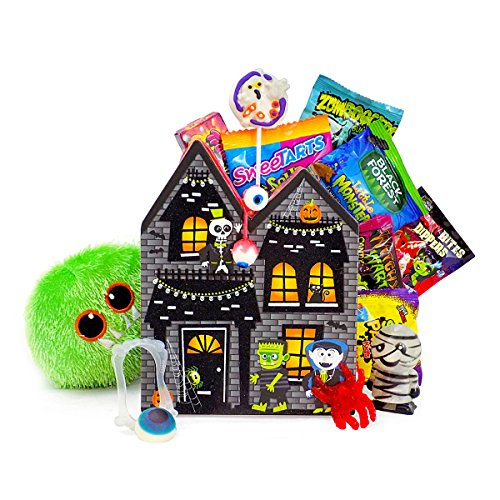 Halloween Scene Ideas (Wishing You A HAUNTingly Fun Halloween Candy and Toy Gift Basket)