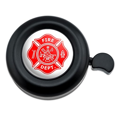 Graphics and More Firefighter Firemen Maltese Cross Red Bicycle Handlebar Bike Bell ()