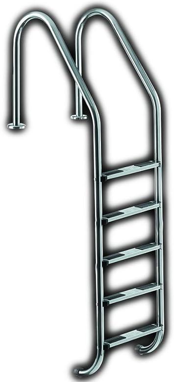 Ideal Shoes 5 Niveles tiefbec Ken Escalera Piscina Escalera Escalera para Piscina de Acero Inoxidable Escalera Escalera: Amazon.es: Jardín