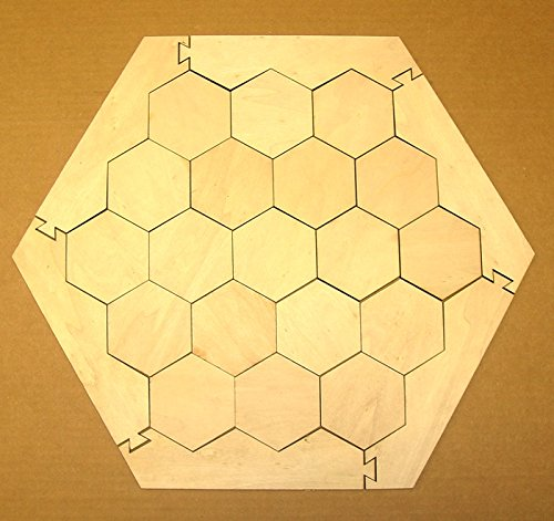 Board Game Frame with 19 Hexagons