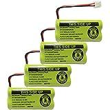 BAOBIAN 2.4V Rechargeable Cordless Phone Batteries Compatible with for at&T/Lucent BT-18433 BT-184342 BT-28433 BT-284342 BT-6010 BT-8000 BT-8001 BT-8300 Empire CPH-515D CPH515D(Pack of 4)