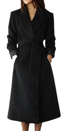 b8867613edfb Foluton Damen Wintermantel Herbst Elegant Wollmantel Lang Trenchcoat  Cardigan Mode V-Auschnitt Revers Parka Kaschmirmantel