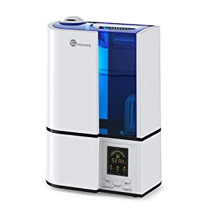 TaoTronics Humidifiers for Bedroom, 4L Cool Mist Ultrasonic Humidifier for Home Baby
