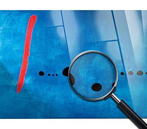 GIALLO BUS CADRE SUR VERRE ACRYLIQUE PLEXIGLASS BLUE 2-100X140CM JOAN MIRO