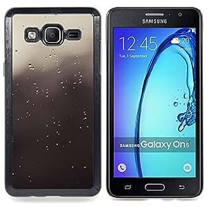 "Qstar Arte & diseño plástico duro Fundas Cover Cubre Hard Case Cover para Samsung Galaxy On5 O5 (Gotas grises"")"
