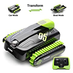 Pressing the transformation key on the remote control, The amphibious stunt car will transform from the car mode to the boat mode. A great toy For outdoor activities No matter in winter or summer. Let's enjoy the special experience with SainS...