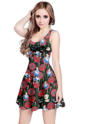 CowCow Womens Alice Roses Sleeveless Dress, Roses - L -