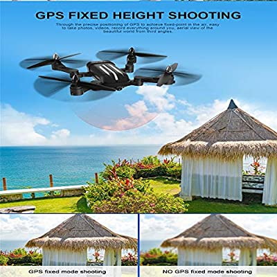 WANGKM Folding Brushless Drone Dual GPS Intelligent Following Positioning Four-axis Aircraft Real-time Transmission Hd Aerial Remote Control Aircraft