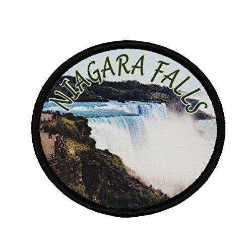 Niagara Falls Patch Travel Horse Shoe Travel Badge Sublimation Iron On Applique