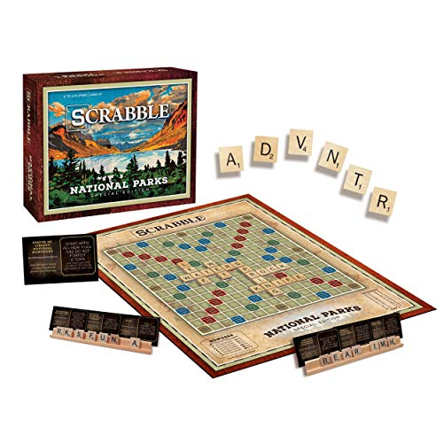 Scrabble: National Parks | Official Scrabble Word Game with a National Parks Theme | Featuring Classic Scrabble Rules, Scrabble Board & Scrabble Tiles | Celebrate US National Parks Service
