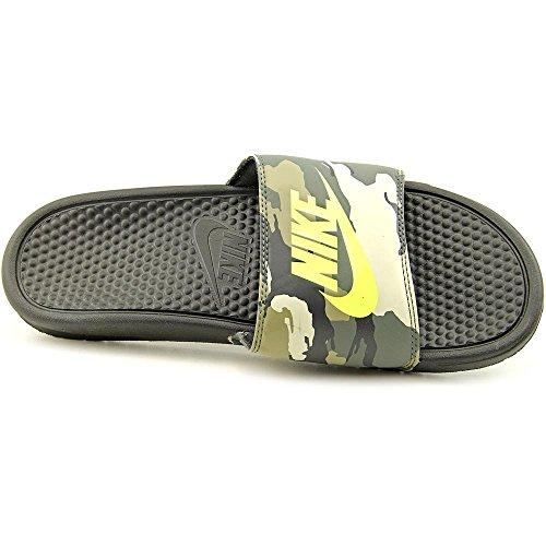 Nike Uomo Benassi Jdi Sandalo Stampa Nero / Volt-dk Mica Verde