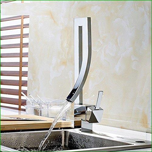 Daadi Die Küche Bad Kupfer Waschbecken mit warmen und kalten einzelne Bohrung es aus dem Wasserhahn für die Küche Badezimmer Waschbecken Wasserhahn fällt
