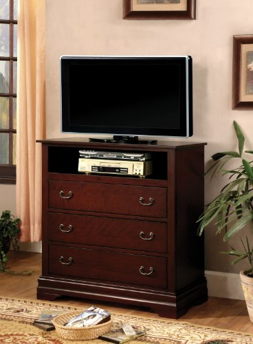 Furniture of America Delenis TV Console, Cherry Finish