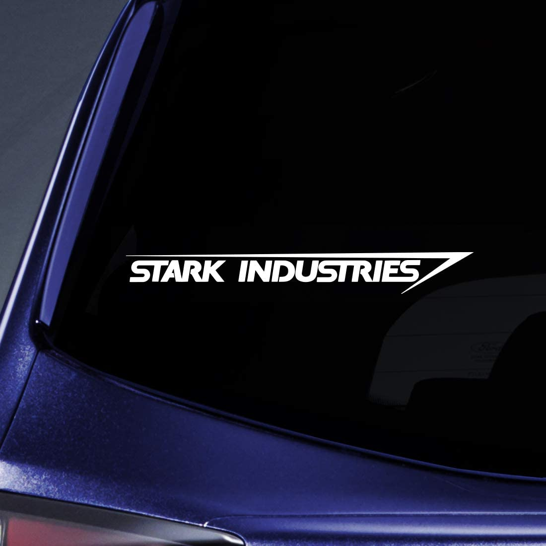 "Bargain Max Decals - Stark Industries Sticker Decal Notebook Car Laptop 8"" (White)"