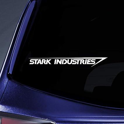 blanco Stark Industries Sticker Decal port/átil coche port/átil de 8/pulgadas