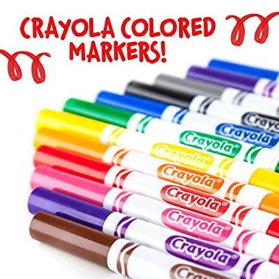 Crayola Black Markers, School Supplies, At Home Crafts for Kids, 12 Count: Toys & Games