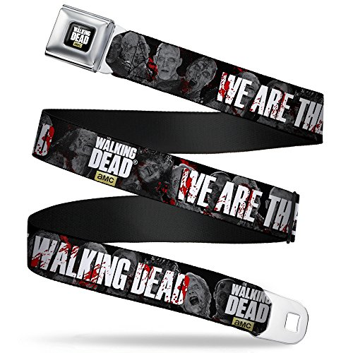 Buckle-Down Seatbelt Belt - THE WALKING DEAD WE ARE THE WALKING DEAD/Zombies Grays/White/Blood Splatter - 1.5
