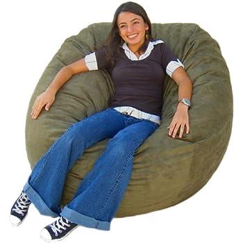 Amazon Com Cozy Sack 4 Feet Bean Bag Chair Large Olive