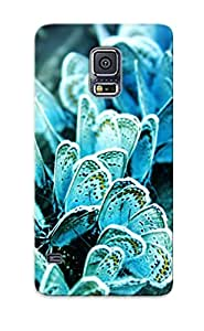 Hot Tpu Cover Case For Galaxy/ S5 Case Cover Skin Design - Blue Butterflies