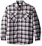 Wrangler Authentics Men's Long Sleeve Sherpa Lined Flannel Shirt Jacket, Gray tri Color Buffalo, 2XL