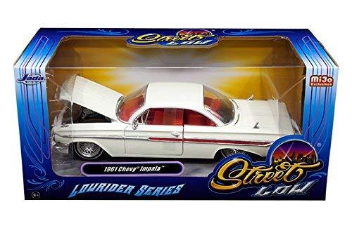Jada 1961 Chevrolet Impala White Lowrider Series 1/24 Diecast Car Model 98929