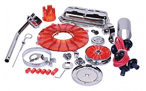 EMPI 8653 Super Chrome & Color 19 pc. Stock Style Deluxe Engine Kit - Red ()