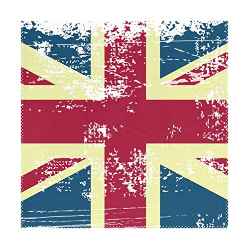 Placemats Art UK Flag Vintage 12x12 inch one Piece Heat Resistant Non Slip for Dinning Table (Placemats Rattan Uk)
