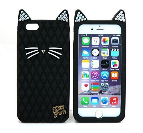 TISHAA Apple Iphone 6 Case(4.7 Inch) Bling Cat Case Protective Soft Skin Silicon Rubber Cover Cell Phone Case