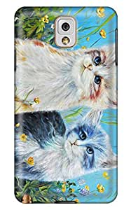 Simply Case Design Lovely Cat Cover For 3d Samsung note3