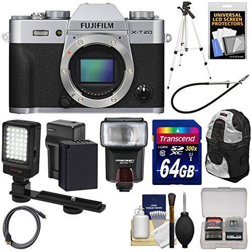 Fujifilm X-T20 Wi-Fi Digital Camera Body  with 64GB Card + B