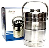 Stainless Steel Food Jug Flask Jar Wide Mouth Thermos 54.1 Fl Oz W/2-Bowls 1.6-L