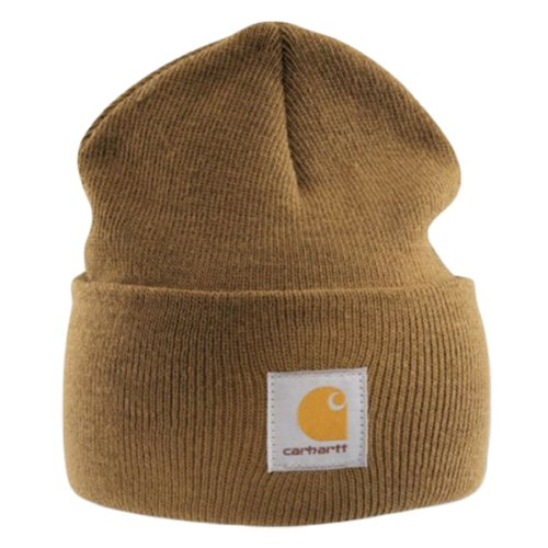 Carhartt - Acrylic Watch Cap - Light brown Branded Beanie Ski (Carhartt Winter Cap)