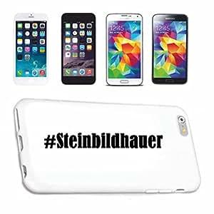 cubierta del teléfono inteligente Samsung S6 Galaxy Hashtag ... #Steinbildhauer ... en Red Social Diseño caso duro de la cubierta protectora del teléfono Cubre Smart Cover para Samsung Galaxy Smartphone … en blanco ... delgado y hermoso, ese es nuestro hardcase. El caso se fija con un clic en su teléfono inteligente