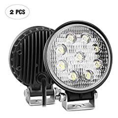 Specification:  LED Power:27W (9 x 3W High Intensity LED)  Beam Pattern: Flood Beam, wide light cover the whole lane, extreme useful during the fog days . -More items' options for choice • Input Voltage: 9-30V DC (fits 12V, 24V vehicles) Work...