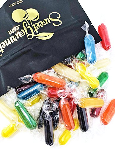 Assorted Fruit Flavored - Rods Hard Candy Kosher - Cherry, Apple, Butterscotch, Peppermint, Tangerine, Strawberry, Pineapple, Licorice and Lemon 2 pounds - Flavored Hard Candy